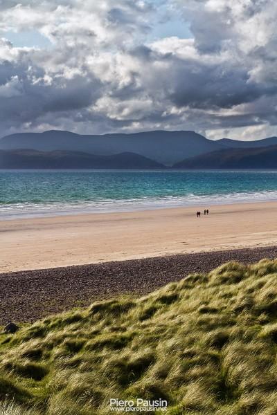 Spiaggia di Rossbeigh Beach in Irlanda sul Ring Of Kerry