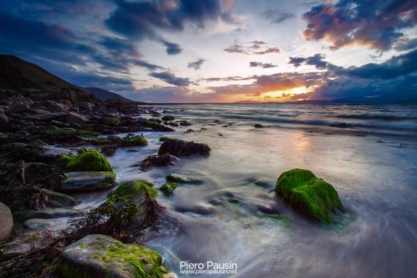 Tramonto a Rossbeigh Beach - Glenbeigh in Irlanda