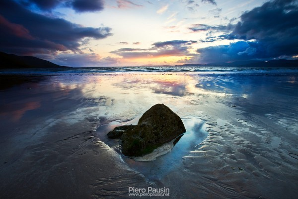 Tramonto romantico in Irlanda sul Ring of Kerry