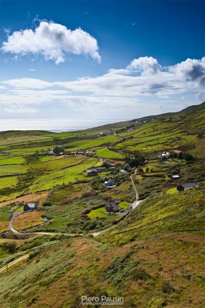 Vista panoramica del Ring of Kerry in Irlanda