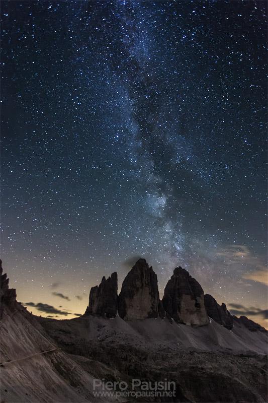 Via Lattea sulle Tre Cime di LAvaredo Notturna