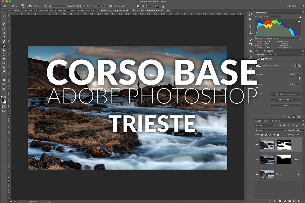 corso adobe photoshop postproduzione trieste