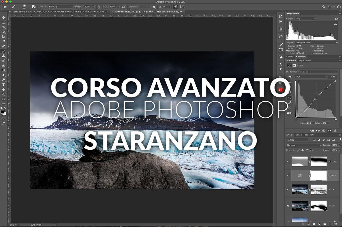 corso avanzato adobe photoshop postproduzione staranzano
